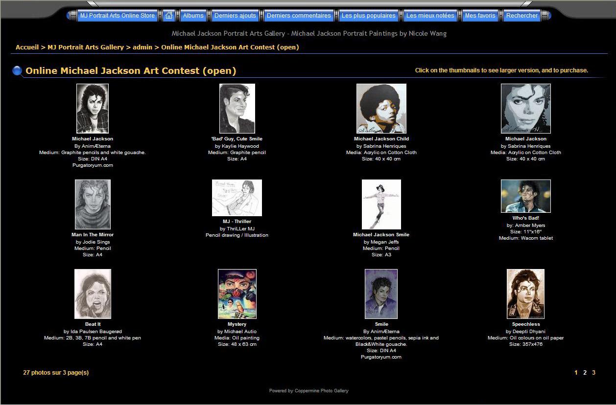 concours portrait Michael Jackson
